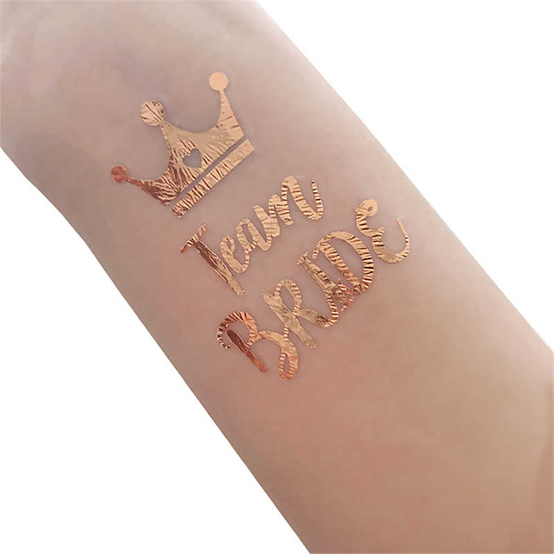 8cb401210 ... 5Pcs Rose Gold Team Bride Tattoo Stickers Wedding Favors and Gifts  Bachelorette Party Bride Temporary Tattoo ...