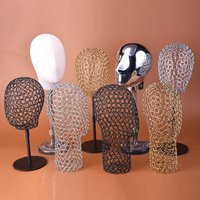 Female Metal Iron Mannequin Head For Hat Display