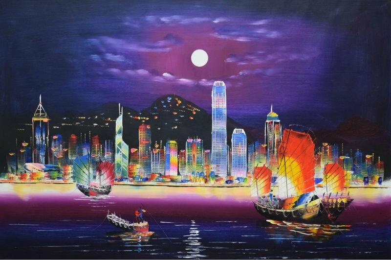 Image Gallery hong kong paintings