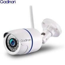 Gadinan hd 1080 p 720 p 무선 ip 카메라 p2p rtsp 모션 감지 방수 와이파이 카메라 총알 64g sd 카드 슬롯 icsee