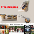 3 in 1 Magnetic Fish Eye Wide Angle Fisheye Lens For appareil photo iPhone 6 5 5S 5C 4 4S Samsung sony Nokia Free Shipping