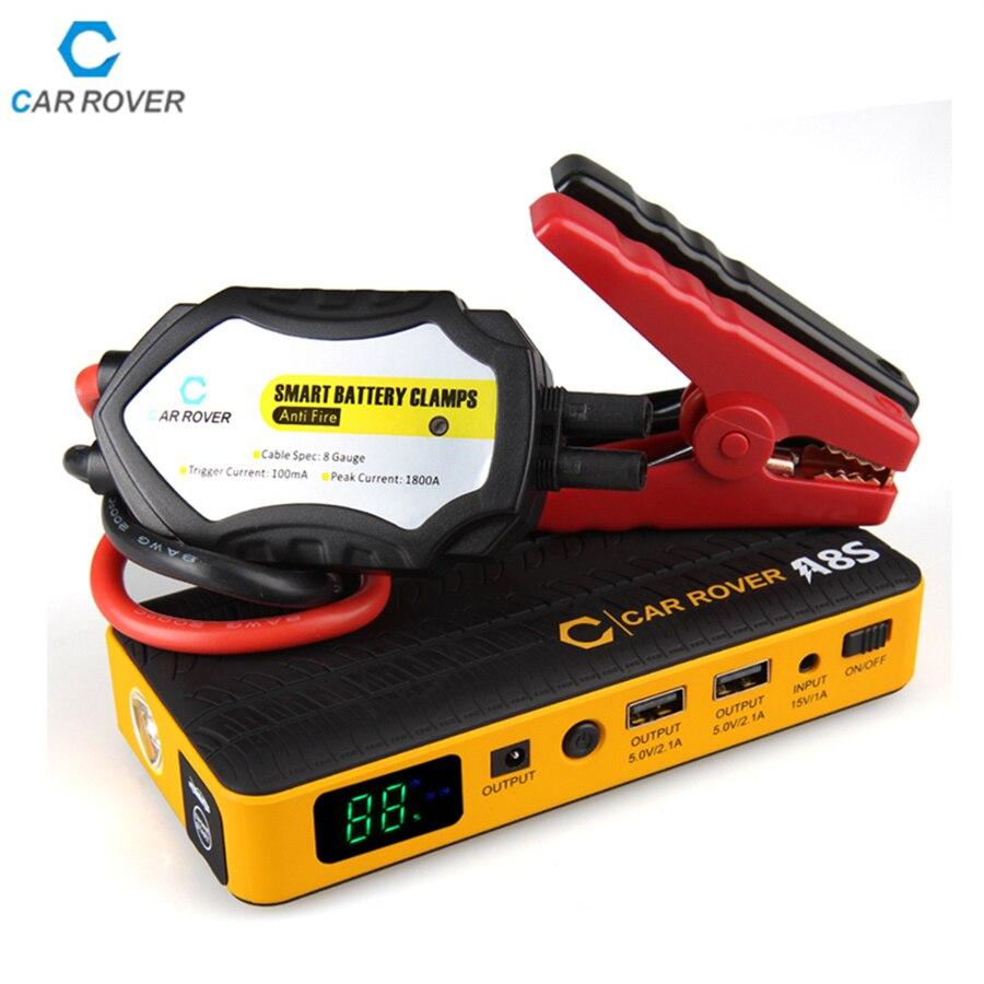 imágenes para Nuevos Clips Smart Power 14000 mAh Coche de arranque Salto 800A Pico de Corriente Mini Banco de la Energía Del Cargador de Batería de Emergencia Portátil para gasolina