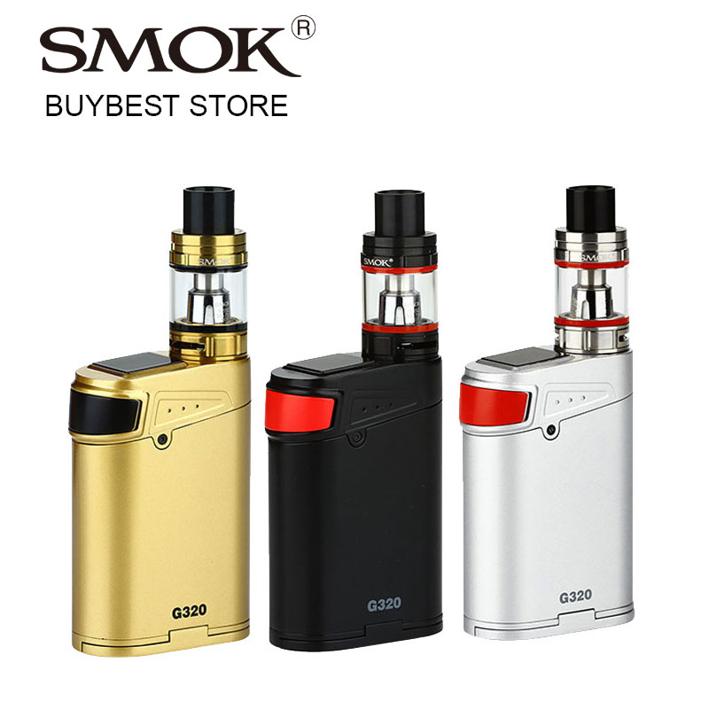 цены на Promotion 320w SMOK G320 Marshal 320 Vape Kit with 5ml Smok TFV8 Big BABY Atomizer & G320 Box Mod Support 2/3 18650 Batteries