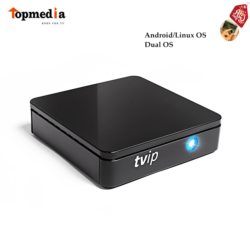 TVIP 410 412 Android 4.4 Linux Dual OS Smart TV Box Amlogic Quad Core 4GB Flash Support H.265 Airplay DLNA Pk Mag 250 Mag254 10 pcs mini tvip 410 412 box amlogic quad core 4gb linux android 4 4 dual os smart tv box h 265 airplay dlna 250 254 free ship