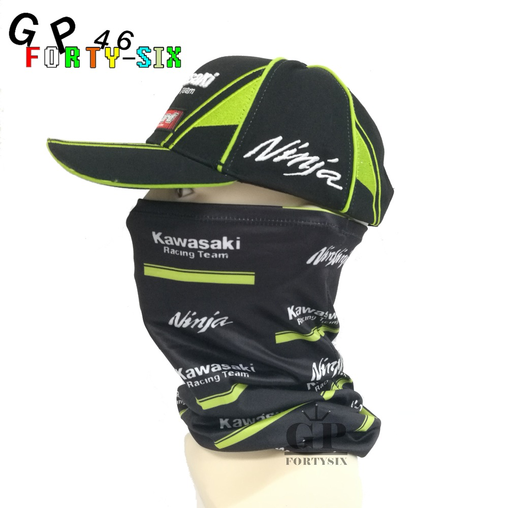New Motorcycle Face mask Balaclava for MOTOGP Kawasaki Ninjia VR46 Rossi Scarf Kerchief Sports Cycling Bike hat face mask coolchange 20006 cycling thicken fleeces face mask hat scarf black