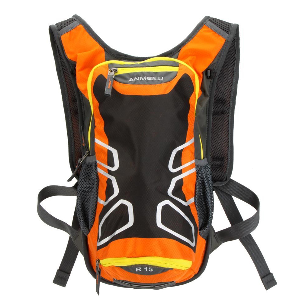 ANMEILU Cycling Backpack Riding Shoulder Outdoor Waterproof Hiking Mountain Bike Tour, Camping, Orange Running Water Bag