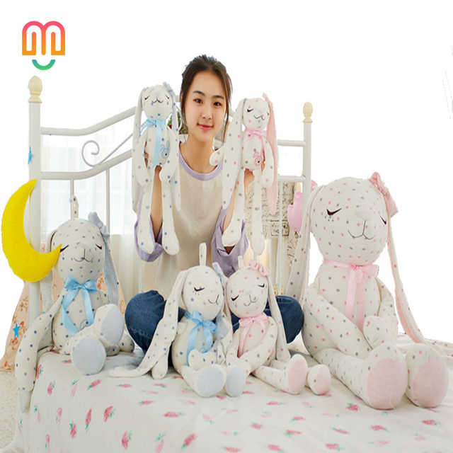 3e82dbcc8b7 Vanmajor 40 55cm Baby Infant Sleeping Hug Doll Stuffed Bunny Dolls Plush  Rabbit Toys Pure Cotton Long-eared Rabbit Pink   Blue
