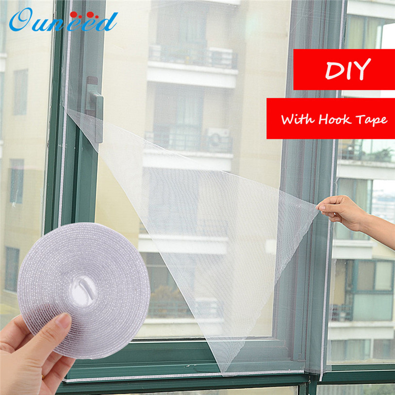 Self-adhesive Anti-mosquito Net DIY Flyscreen Curtain Insect Fly Mosquito Bug Mesh Window Screen Home Supplies  DROP SHIP
