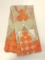 2017 Orange african lace fabric for aso ebi grey blue green french lace fabric with stones white latest tulle lace K J1496