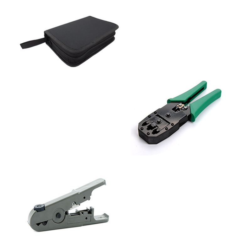 14 teile/satz Tragbare Netzwerk Kombination Kabel Draht Tester Crimpen Cutter Punch Werkzeuge RJ11 RJ12 RJ45 Computer Network Tool Kit