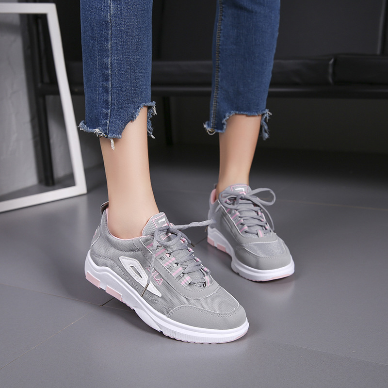 Jookrrix 2018 Spring Fashion Brand Lady Casual Vulcanized Shoes Women Shoe Girl Leisure Sneaker Breathable Laces Good Quality bakkotie 2017 new fashion spring autumn baby boy casual sport shoe brand leisure trainer breathable sneaker girl first walkers