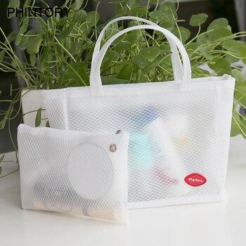 Women Travel Transparent tote Cosmetic Bag Zipper Waterproof Make Up Bags Handbag Organizer Storage Pouch Toiletry Wash Bag алиэкспресс сумка прозрачная