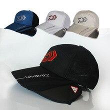 DAWA Fishing Hats Daiwa Male Sunshade Sun Visor DAIWA Breathable Cap Adjustable Hat Fishing Tackle Sun Hat Embroidery Cap