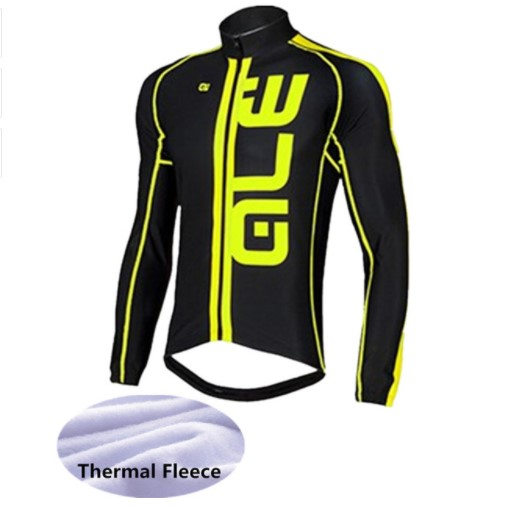 ALE 2017 Mens Long Sleeve Cycling Jersey Winter Keep Warm Cycling Jersey Thermal Fleece Bicycle Outdoor riding sports clothing