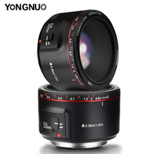 YONGNUO YN50mm F1.8 II Bright Large Aperture AF MF 50mm Standard Prime Lens Auto Focus Metal Mount for Canon DSLR Camera