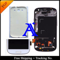 100%  tested 4.8' Super AMOLED For Samsung Galaxy S3 neo LCD i9300i i9301 S3 I9300 I9305  LCD Digitizer Assembly with frame