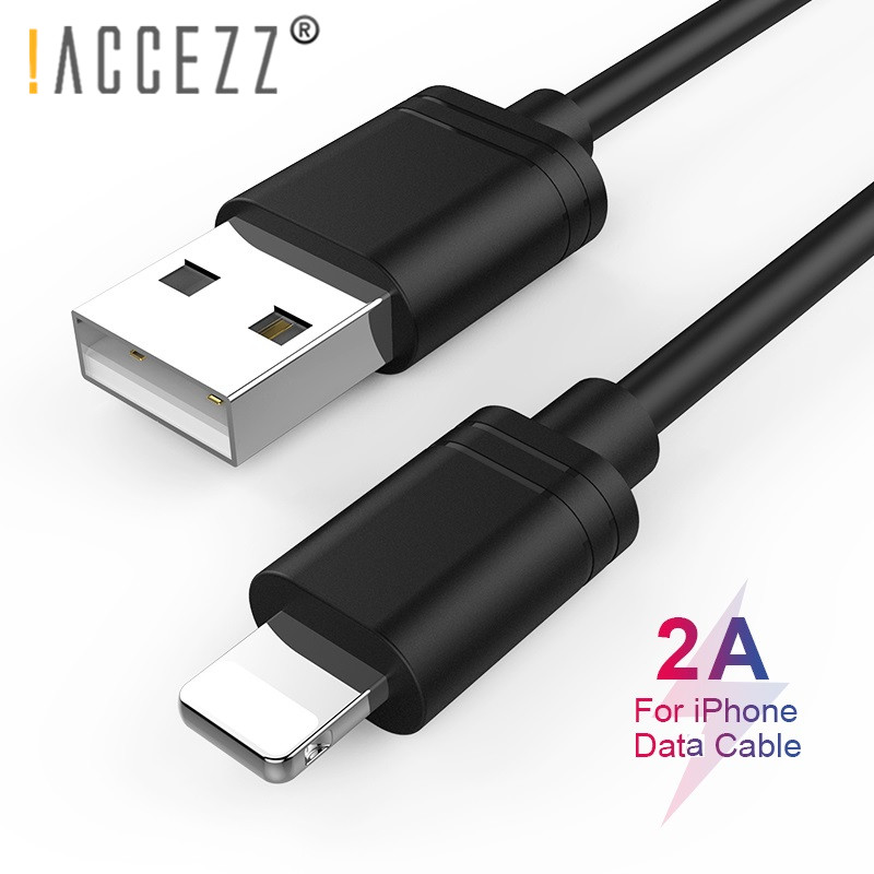 ACCEZZ TPE USB Cable For Apple iPhone X XS MAX XR 8 7 6S 5 Plus iPad Mini Tablet Fast Charging Data Cables Lighting Charge Line in Mobile Phone Cables from Cellphones Telecommunications