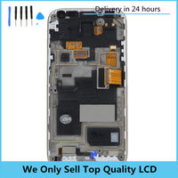 Для Samsung Galaxy S4 Mini I9190 I9195 I9192 ЖК-дисплей дисплей сенсорный экран с рамкой Рамки сборки для S4 мини ЖК-дисплей