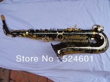 Wholesale drop E alto saxophone surface plating black nickel gold lacquer