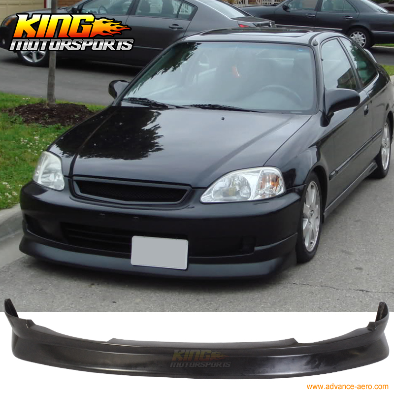 For 99 00 Honda Civic First EK Molding JDM Flugel Front Bumper Lip