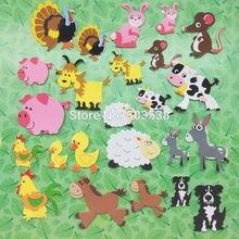 """24 шт./партия. Милые сельскохозяйственных животных пенные наклейки, детская игрушка «сделай сам». Набор для скрапбукинга. Для раннего развития детей наборов """"сделай сам"""". Детском саду для штучного производства. Активность предметы"""