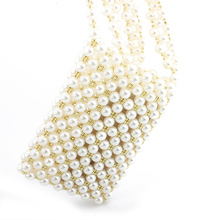 Pearl Handbag Acrylic Evening Clutch Bags For Women 2019 Purse Wedding Party Handbags Chain Wallet Shoulder Bags bolsa feminina