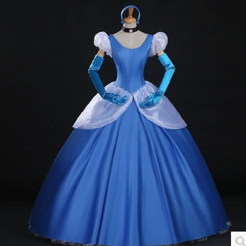 Cinderella Shweshwe Dress: Blue Cinderella Dress For Women Movie Costume Adult