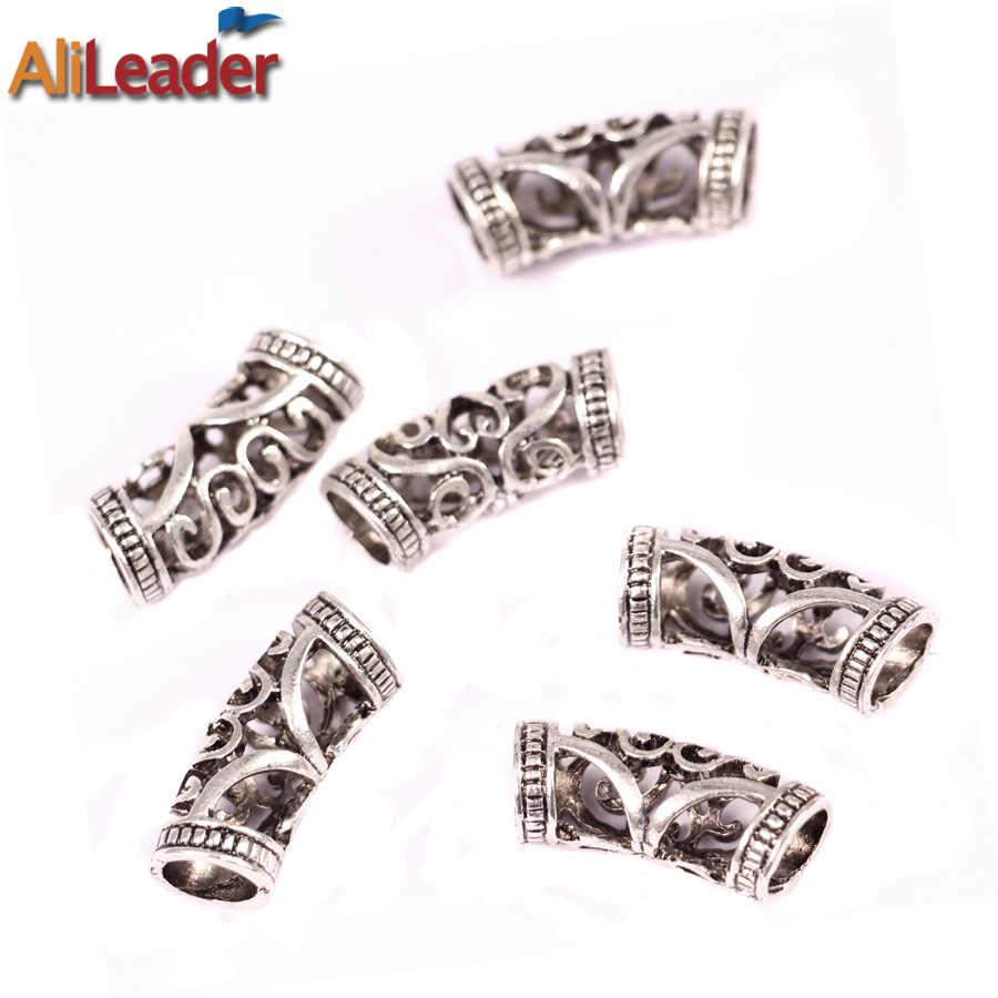 Alileader металлическое кольцо для волос 20 шт. оплетка для волос Dread Dreadlock бусины Asjustable манжеты клип 7 мм и 5 мм кольца для дредов бисера