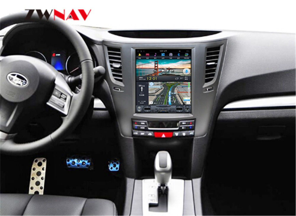 ZWNVA Tesla Style FAI Écran Android 7.1 Aucun Lecteur DVD GPS Navigation Radio Écran Pour Subaru Legacy Outback 2009 2010 2012 2014
