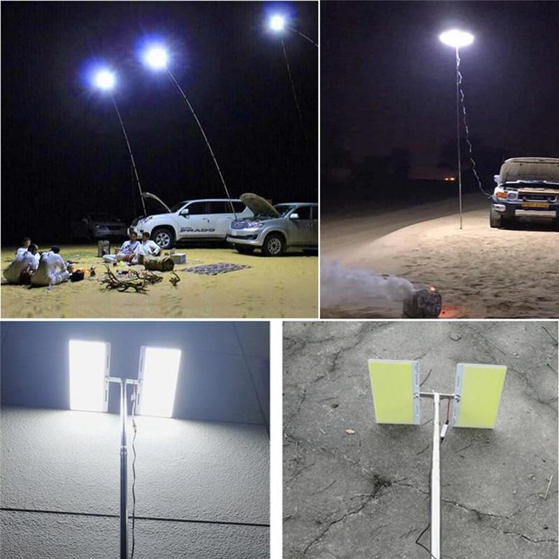 360° Telescopic COB Rod LED Fishing Outdoor Camping Lantern Light Lamp Hiking BBQ Ic Chip Garden Emergency Work Light Spotlights