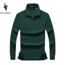 Mens Polo Shirt Brands 2018 Male Long Sleeve Fashion Casual Slim Solid Digital Peacock Polos Men Jerseys 4XL