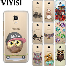 VIYISI For Meizu U20 10 M6 5 Note M5S 5C M3s 3Note Pro6 Owl Animal Soft TPU Phone Case Shell  Coque Cover