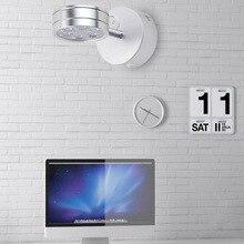 GLW  LED Wall Light Lamp Modern Display Picture Reading Mount Indoor Bedroom Fixture Bedside Nightlight Metal