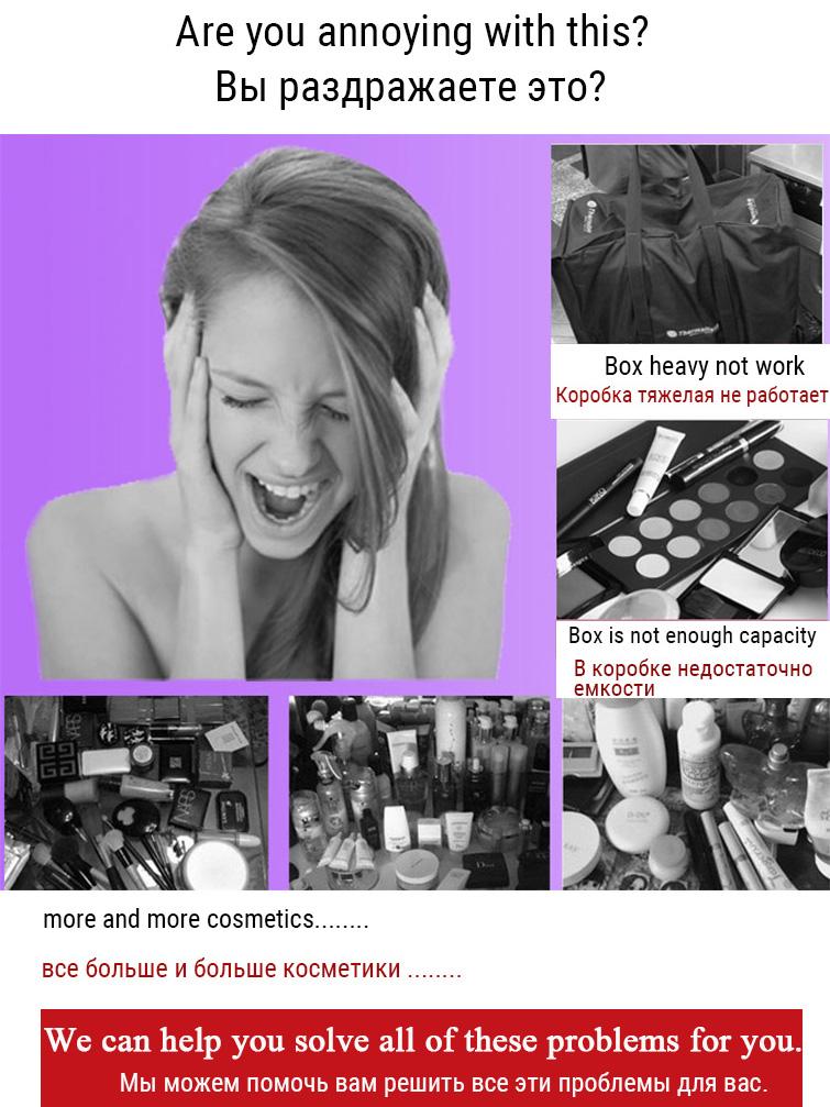 HTB1xZCtaILJ8KJjy0Fnq6AFDpXae - Fashion Women Makeup Organizer Large Capacity Multilayer Clapboard Cosmetic Bag Case