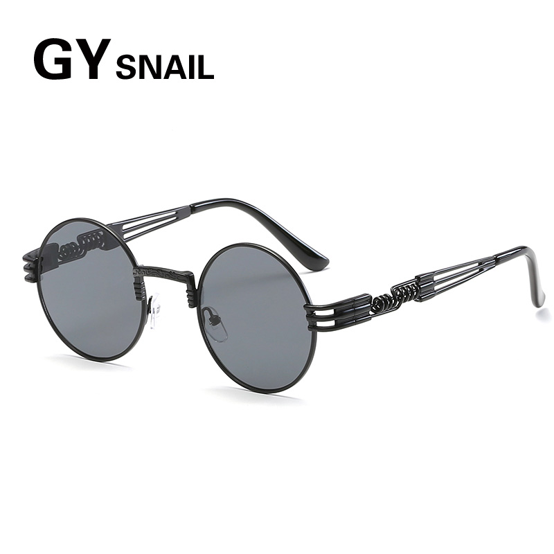GYsnail Vintage Kecil Putaran Sunglasses Wanita Pria Klasik Merek Designer  Logam Pink Retro Cermin Kacamata Matahari Perempuan Lady UV400 HD di  Kacamata ... fdfb38c275