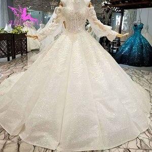 Image 2 - AIJINGYU のウェディングドレスと高級ドレス格安近く私レースインド美しいウェディングプリンセスドレス