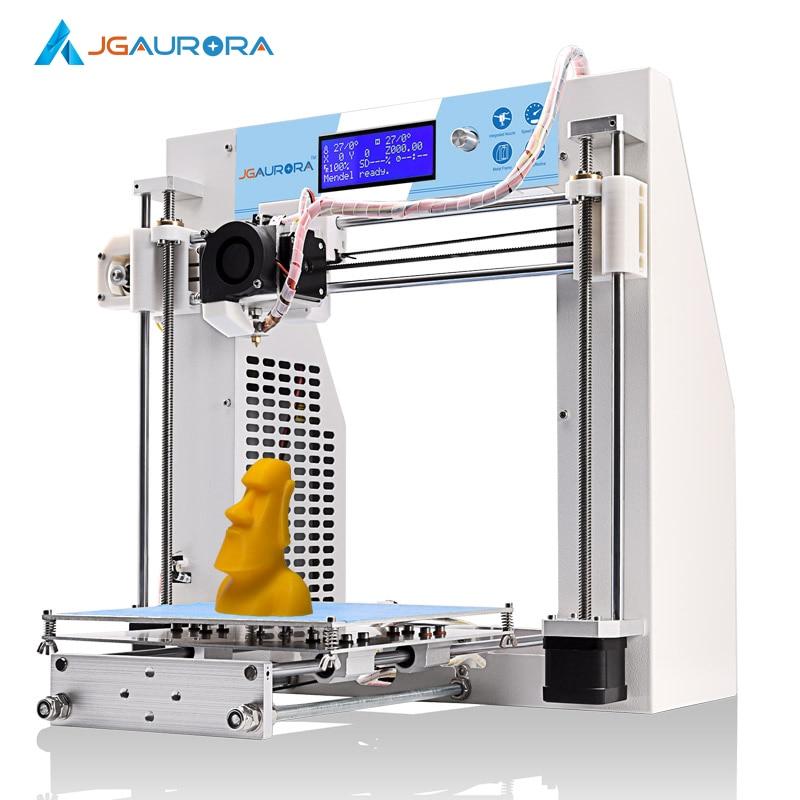 2SETS [JGAurora] A-3 DIY 3D Printer Reprap Kit 3D Model Rapid Prototyping 200*200*180mm (7.5*7.5*7.1in) Nozzle 0.4mm