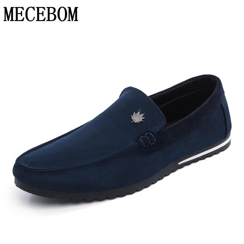 Hombres mocasines moda azul rojo pu transpirable slip-on de los hombres zapatos