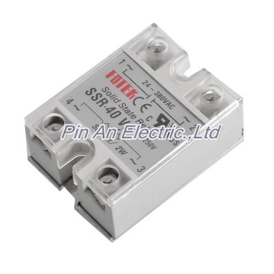 цена на AC 24-380V 40A SSR 40 VA Solid State Relay Voltage Resistance Regulator Qxarr+Transparent cover