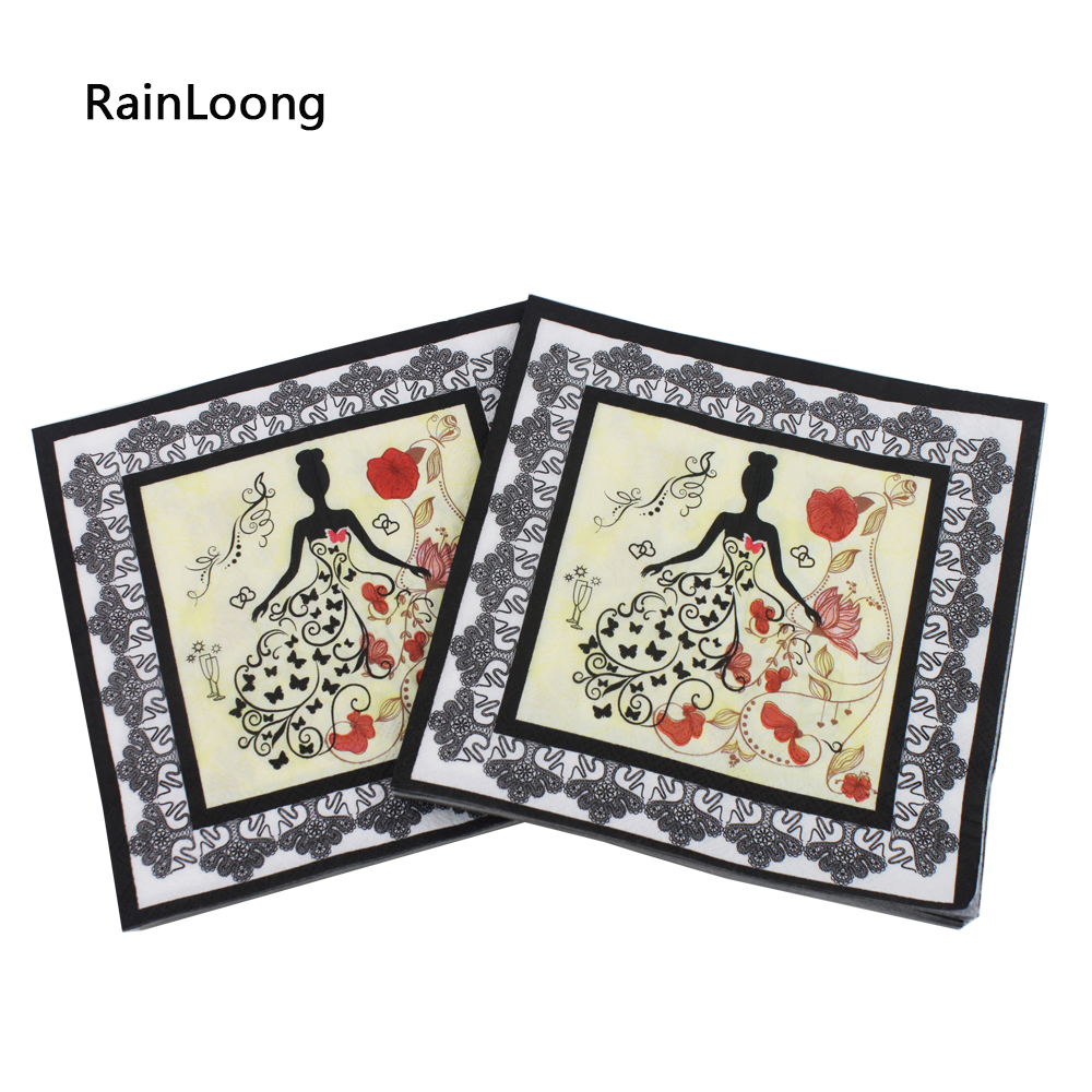 [RainLoong] Printed Wedding Paper Napkins Tissue Napkin