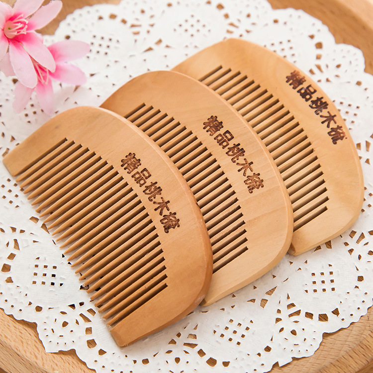 TI17 thickening comb massage anti anti static round tooth wood comb
