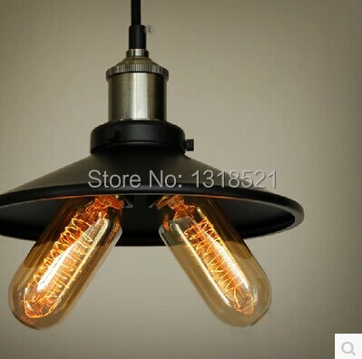 ФОТО Hot Vintage Edison Industrial Pendant lights Hanging Lighting Loft American Country Restaurant Bedroom pendant Lamp