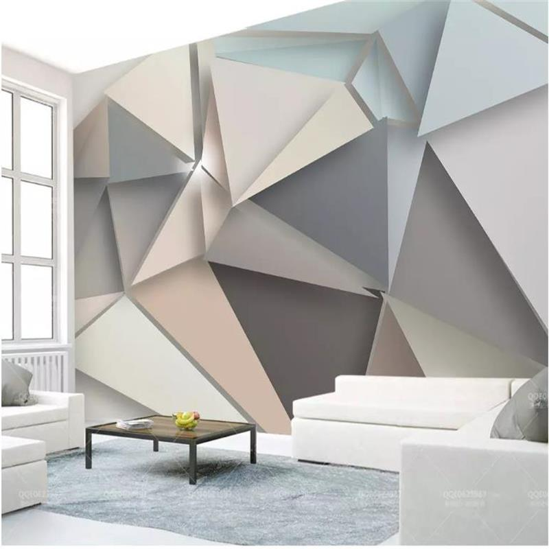 Custom Photo Wallpaper 3D stereoscopic triangle wallpapers modern 3D Large Mural Living Room Sofa TV Backdrop 3D Wallpaper Roll free shipping retro tv backdrop living room bedroom lobby high quality wallpaper 3d stereo bathroom hotel restaurant mural