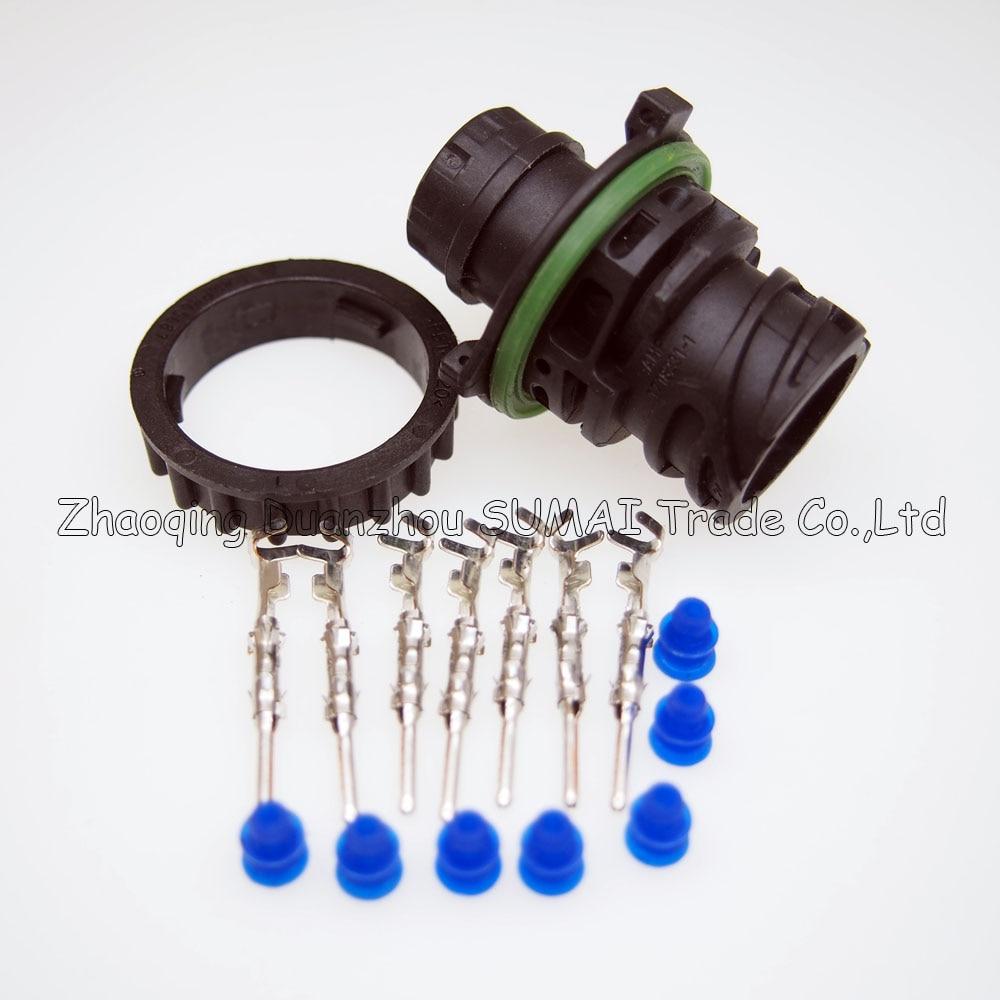 7 Pin 1718230-1 auto male sensor plug for Tyco car,oil exploration,railway etc,waterproof IP67/69,temp resistance