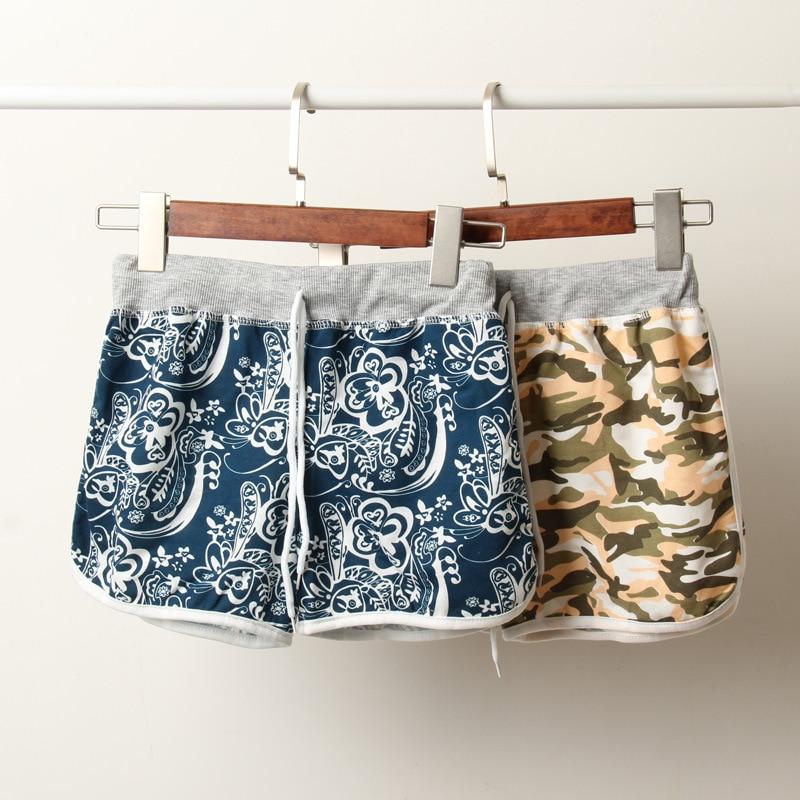 2018 summer Camo printed women   shorts   wide leg sexy mini   shorts   high waist casual plus size women   short   sweatpants pink   shorts
