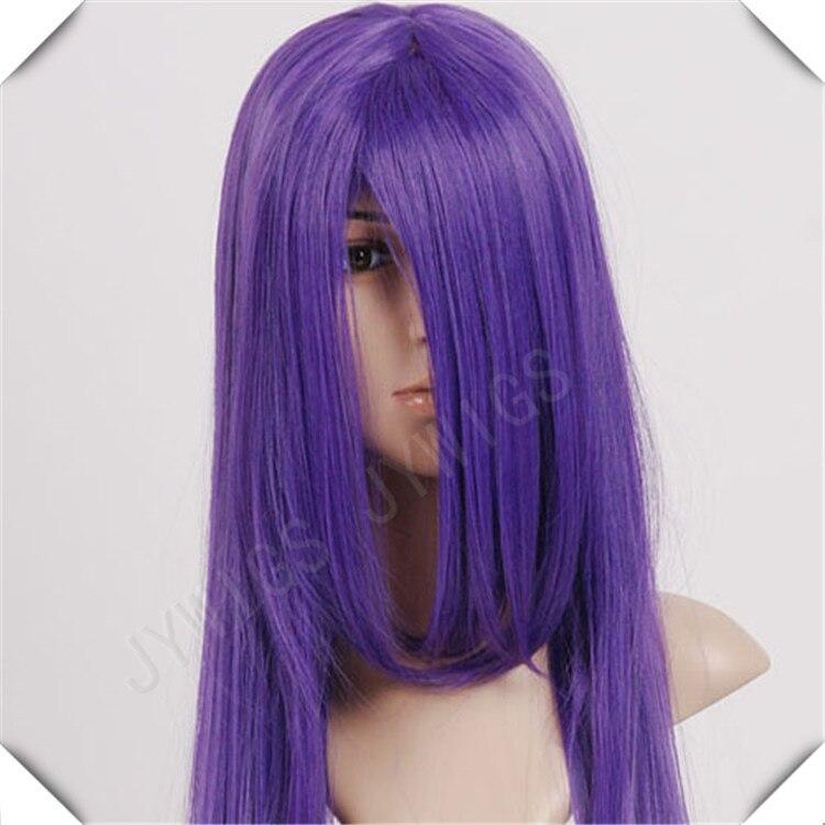 Dark Purple Hair Color Long Cosplay 100cm Synthetic