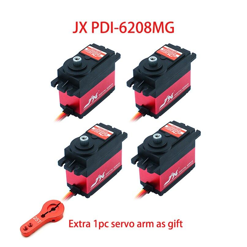 JX PDI-6208MG RC Servo 8KG 120 Degree High Speed 0.07 sec Standard Metal Gear Digital Servo for Drone RC Car RC Boat Robot Parts