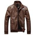 Primavera e no outono dos homens de roupas Jaqueta de Couro dos homens, pu casaco com lã lining, faux casacos de couro e jaquetas