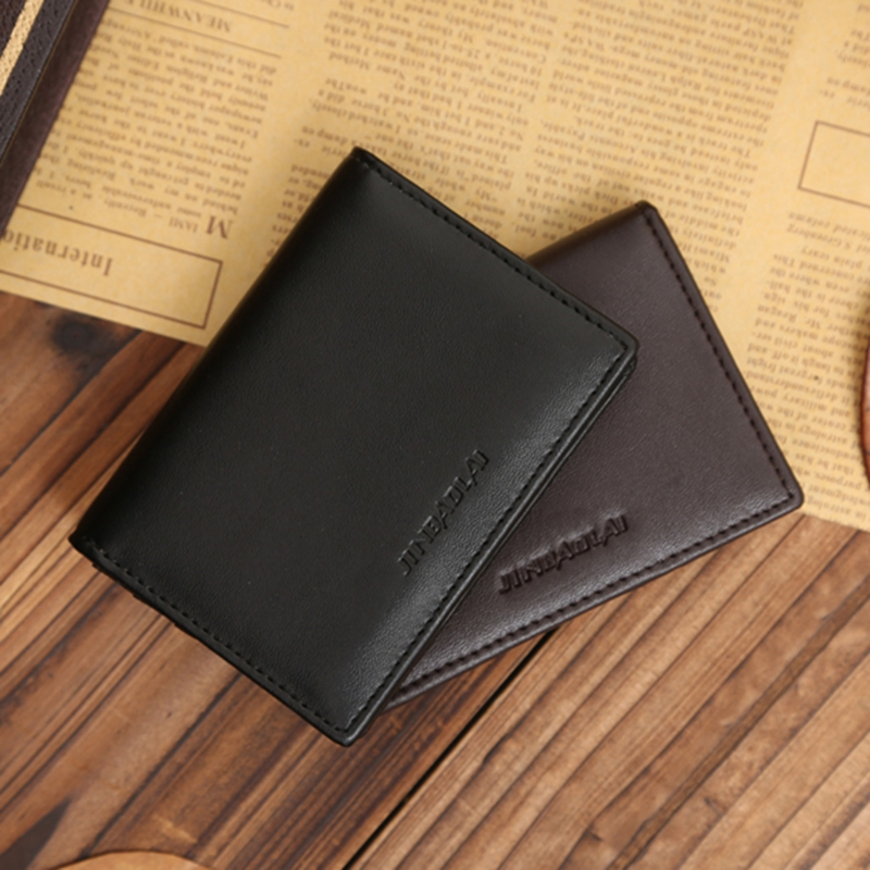 RFID Wallet Men Small Bifold Faux Leather Pocket Money ID Credit Card Holder