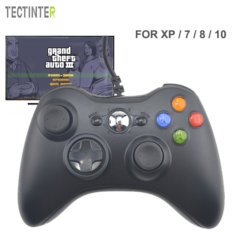 Controle For Microsoft USB Wired Gamepad Game System PC Controller For Windows 7 / 8 / 10 Not for Xbox Joypad for pc retro handheld usb gamepad classic controller for saturn system style high quality wired game controller joypad for mac